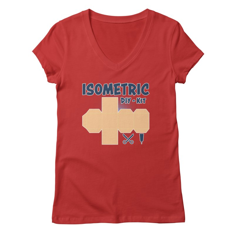 Isometric DIY Kit - Create Your own Dimension Women's Regular V-Neck by Illustrated Madness