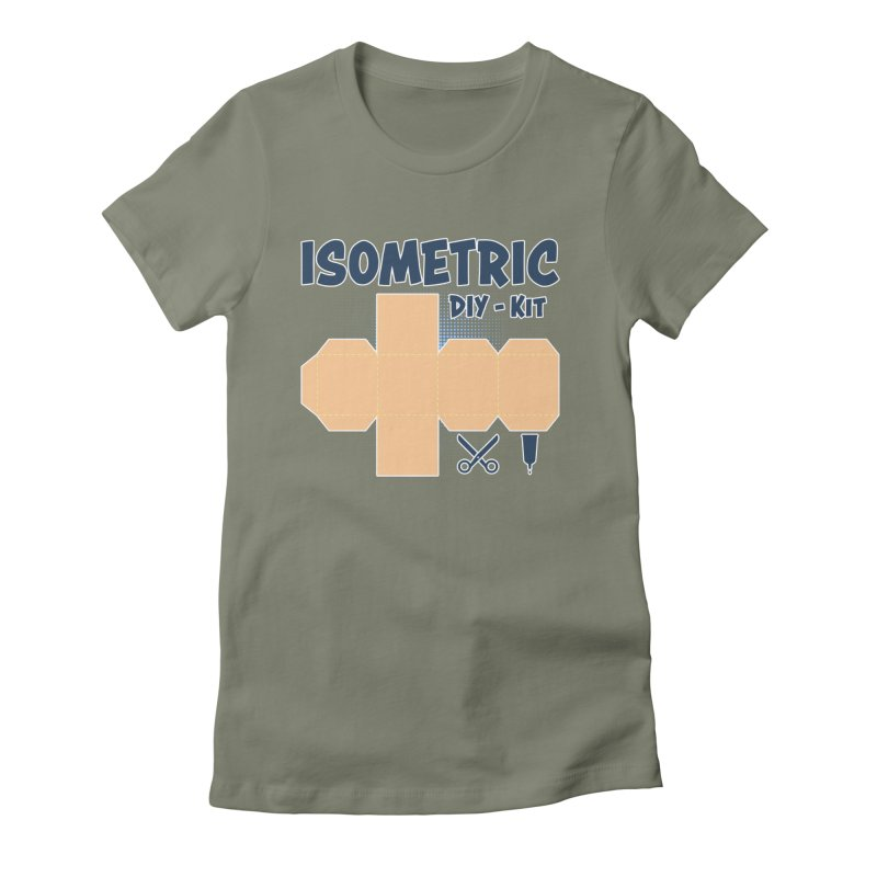 Isometric DIY Kit - Create Your own Dimension Women's Fitted T-Shirt by Illustrated Madness