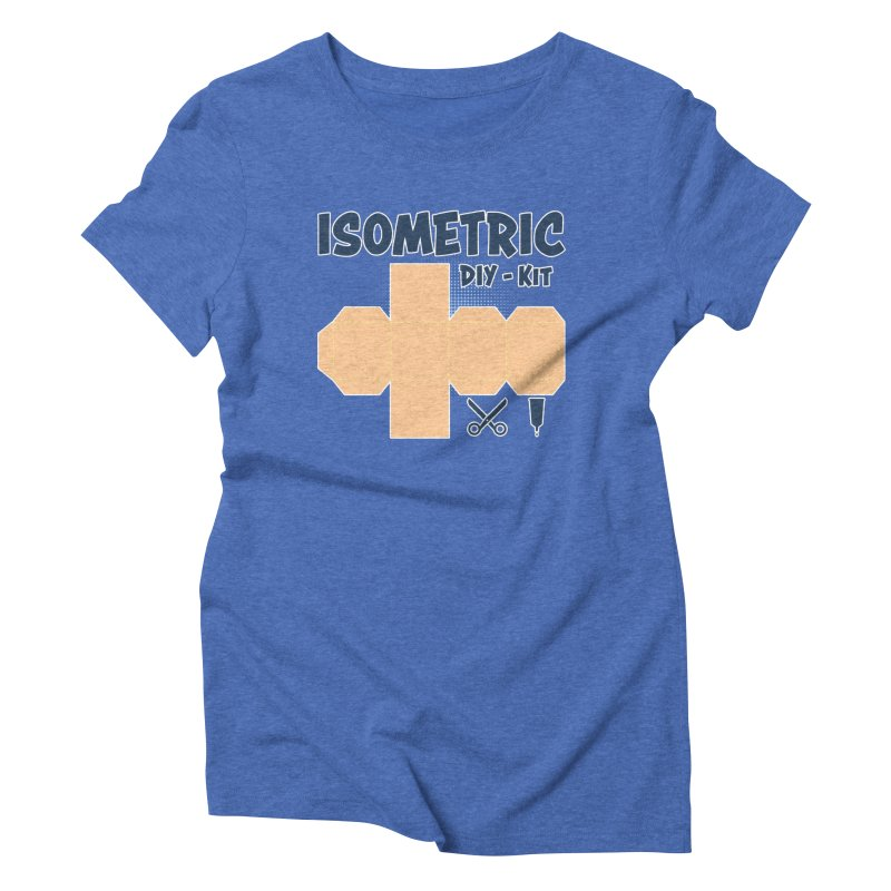 Isometric DIY Kit - Create Your own Dimension Women's Triblend T-Shirt by Illustrated Madness