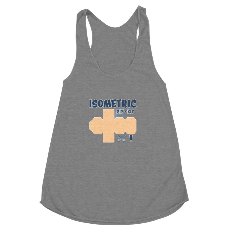 Isometric DIY Kit - Create Your own Dimension Women's Racerback Triblend Tank by Illustrated Madness