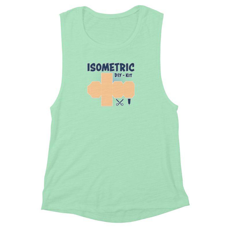 Isometric DIY Kit - Create Your own Dimension Women's Muscle Tank by Illustrated Madness