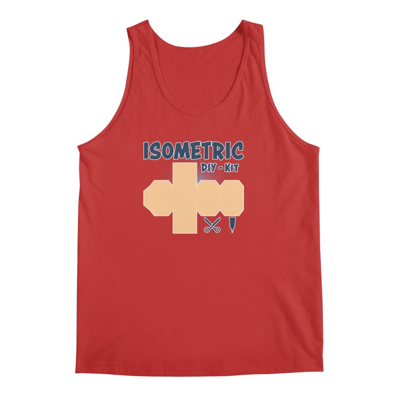 Isometric DIY Kit - Create Your own Dimension Men's Regular Tank by Illustrated Madness