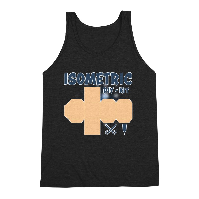 Isometric DIY Kit - Create Your own Dimension Men's Triblend Tank by Illustrated Madness