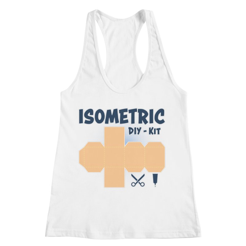 Isometric DIY Kit - Create Your own Dimension Women's Racerback Tank by Illustrated Madness