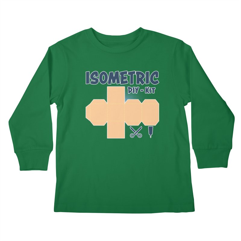 Isometric DIY Kit - Create Your own Dimension Kids Longsleeve T-Shirt by Illustrated Madness