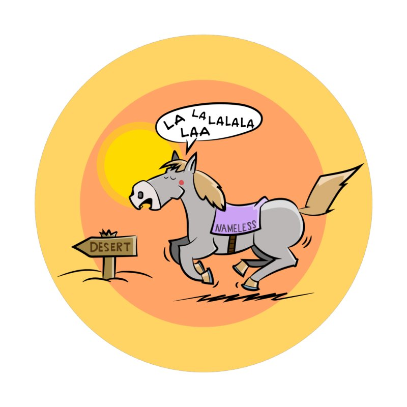 Horse with  no name is singing in the Desert by Illustrated Madness