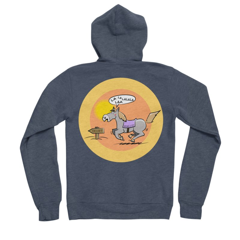 Horse with  no name is singing in the Desert Men's Zip-Up Hoody by Illustrated Madness