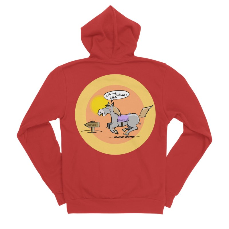 Horse with  no name is singing in the Desert Men's Sponge Fleece Zip-Up Hoody by Illustrated Madness