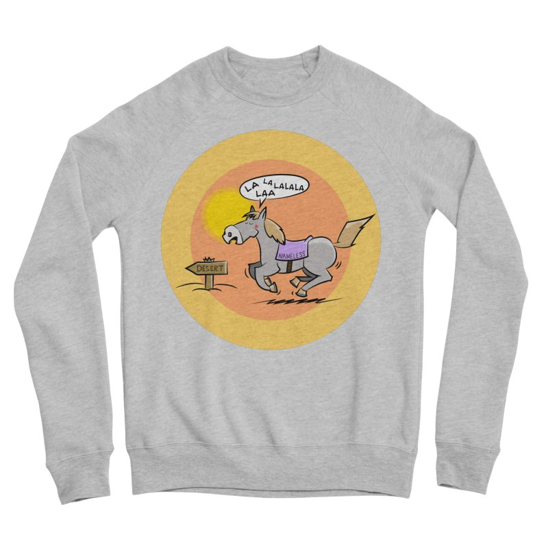 Horse with  no name is singing in the Desert Men's Sponge Fleece Sweatshirt by Illustrated Madness