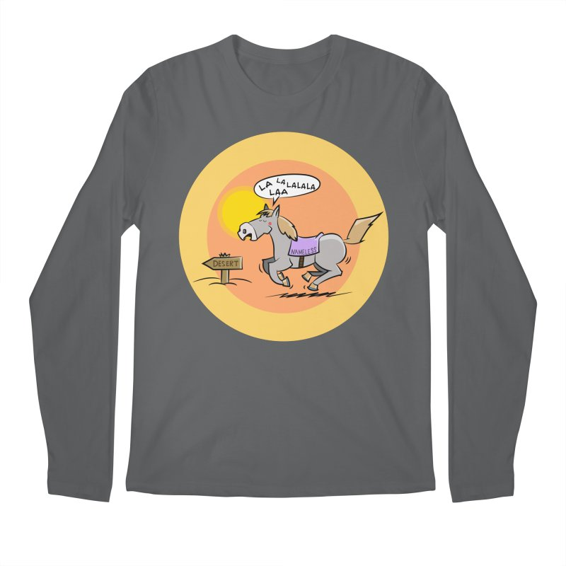 Horse with  no name is singing in the Desert Men's Longsleeve T-Shirt by Illustrated Madness