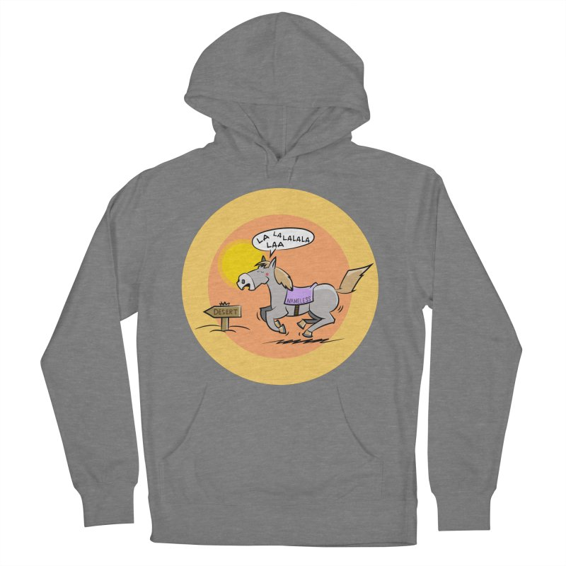 Horse with  no name is singing in the Desert Women's Pullover Hoody by Illustrated Madness