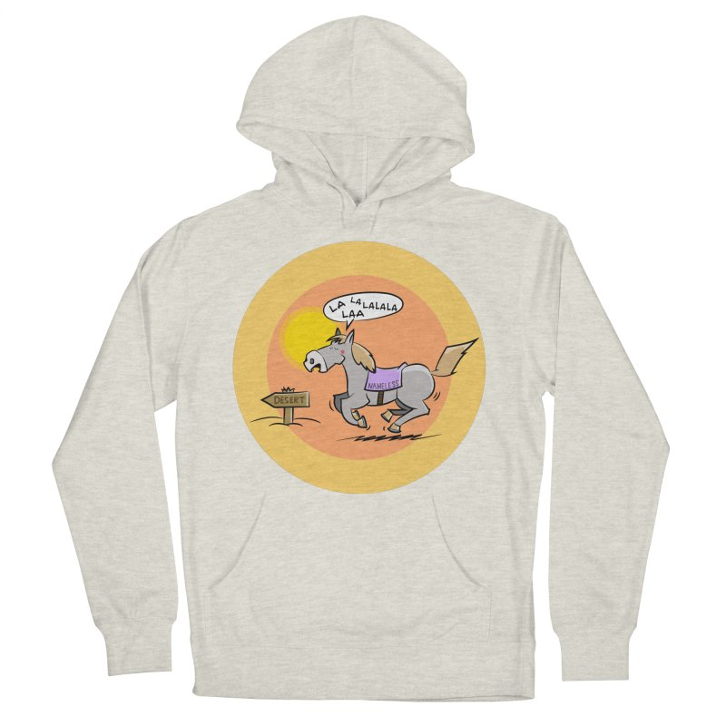 Horse with  no name is singing in the Desert Women's French Terry Pullover Hoody by Illustrated Madness