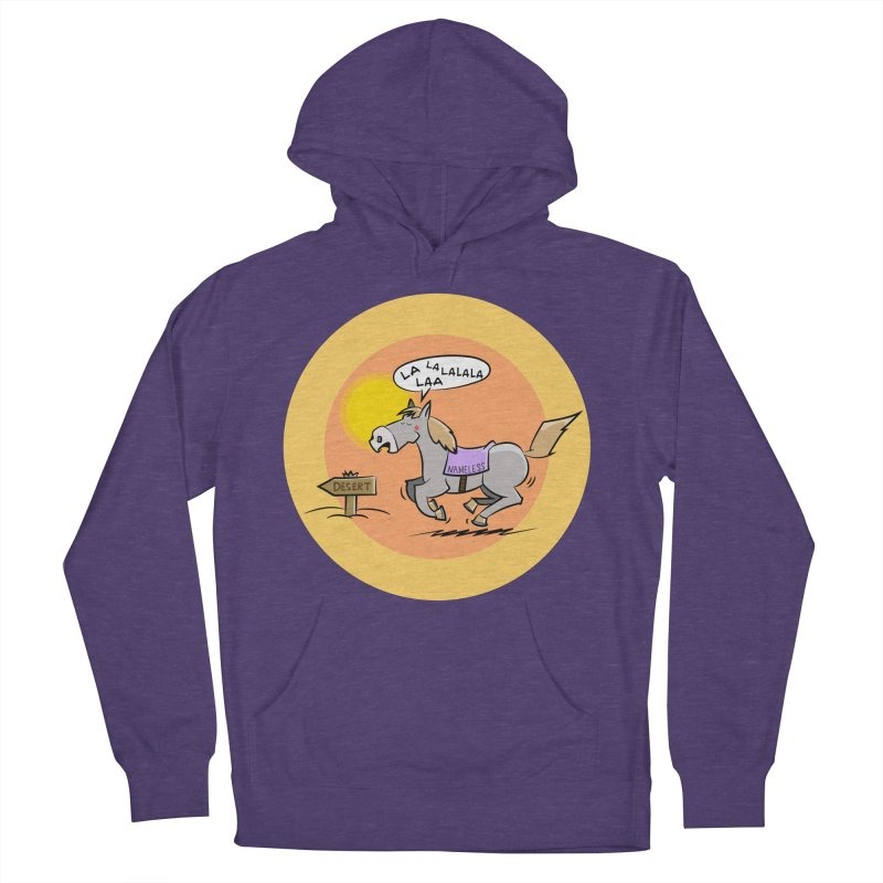 Horse with  no name is singing in the Desert Men's French Terry Pullover Hoody by Illustrated Madness