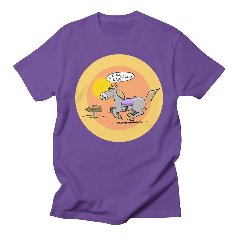 Horse with  no name is singing in the Desert Men's T-Shirt by Illustrated Madness