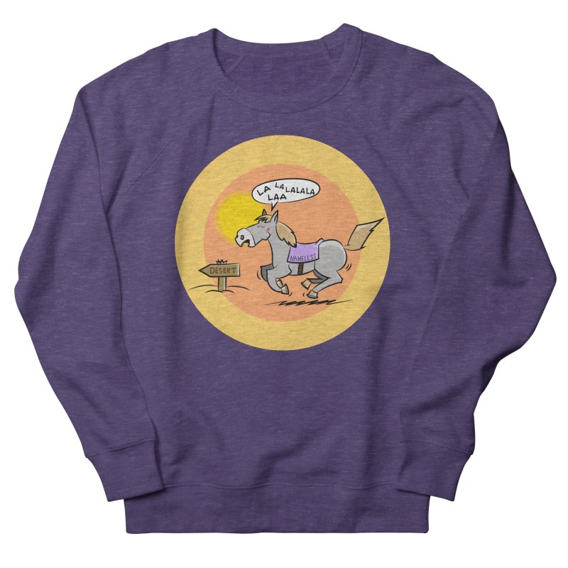 Horse with  no name is singing in the Desert Women's Sweatshirt by Illustrated Madness