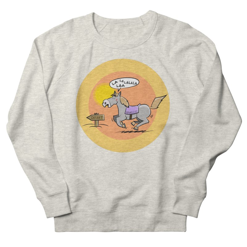 Horse with  no name is singing in the Desert Men's French Terry Sweatshirt by Illustrated Madness
