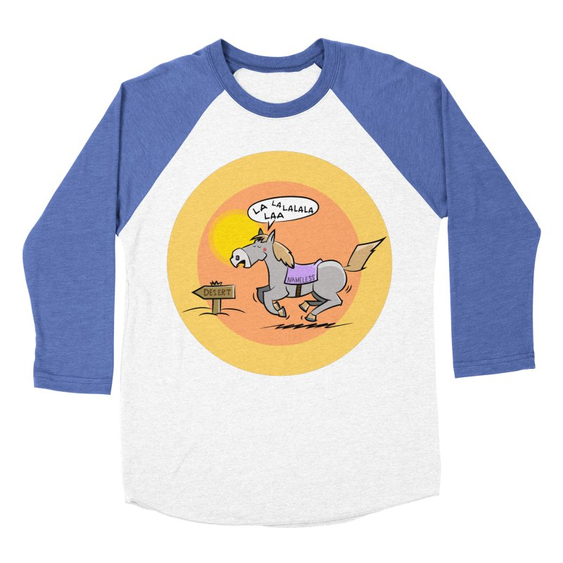 Horse with  no name is singing in the Desert Men's Baseball Triblend Longsleeve T-Shirt by Illustrated Madness