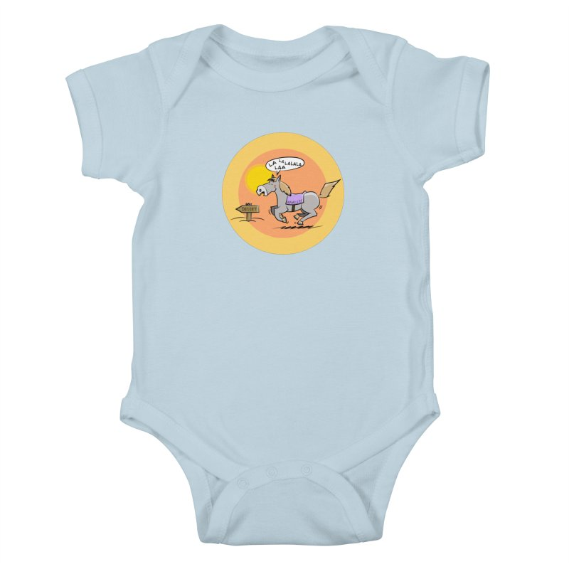 Horse with  no name is singing in the Desert Kids Baby Bodysuit by Illustrated Madness