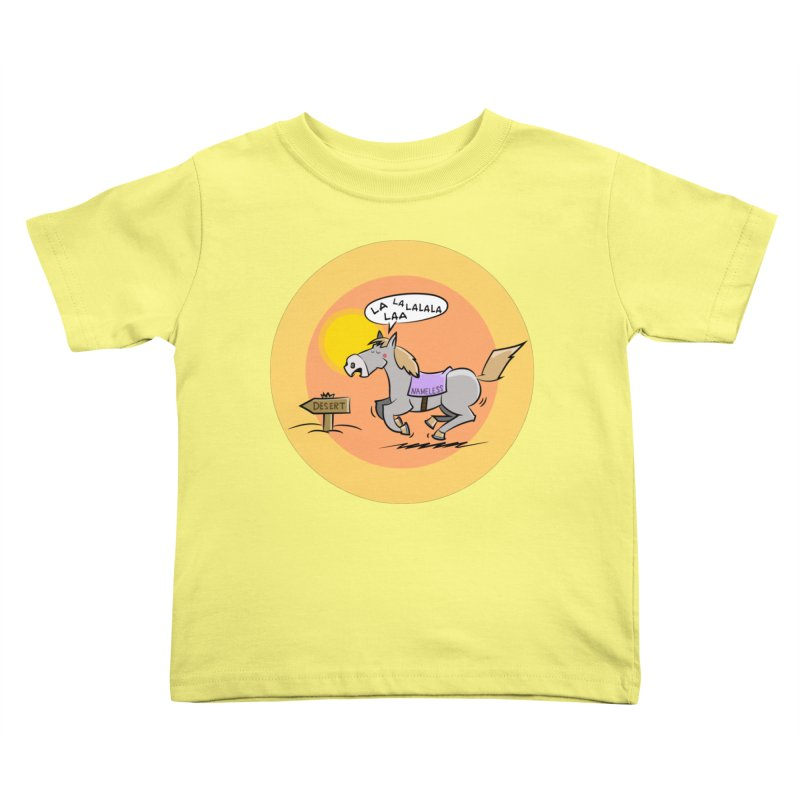 Horse with  no name is singing in the Desert Kids Toddler T-Shirt by Illustrated Madness