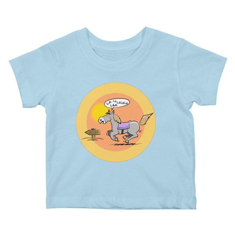 Horse with  no name is singing in the Desert Kids Baby T-Shirt by Illustrated Madness