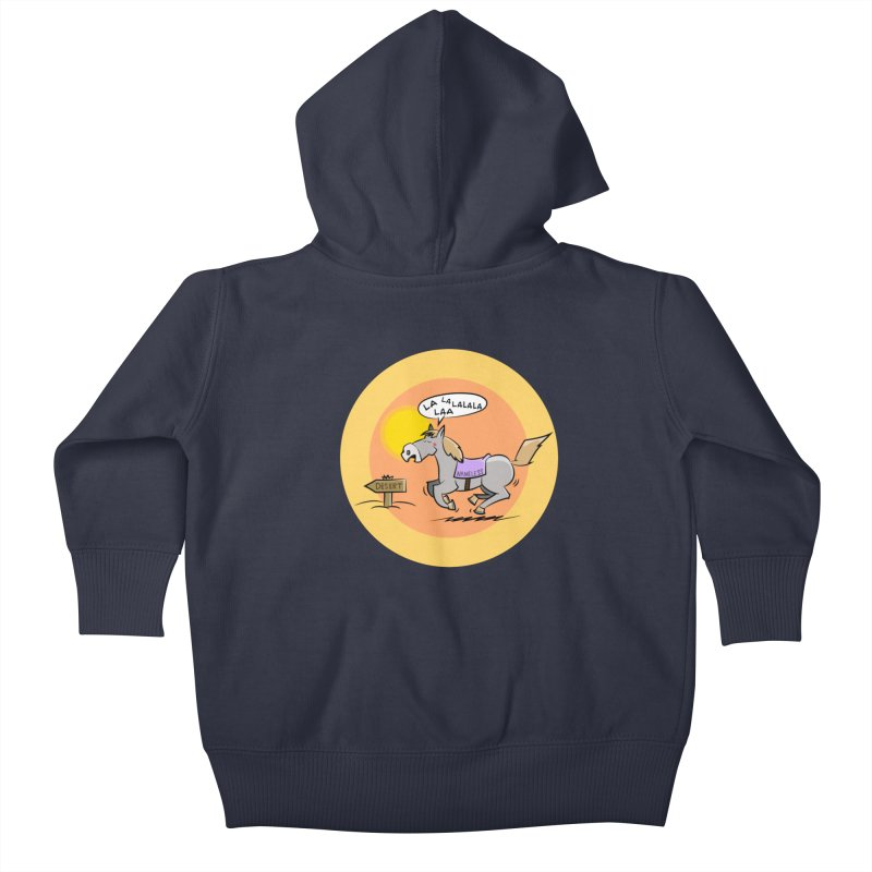 Horse with  no name is singing in the Desert Kids Baby Zip-Up Hoody by Illustrated Madness