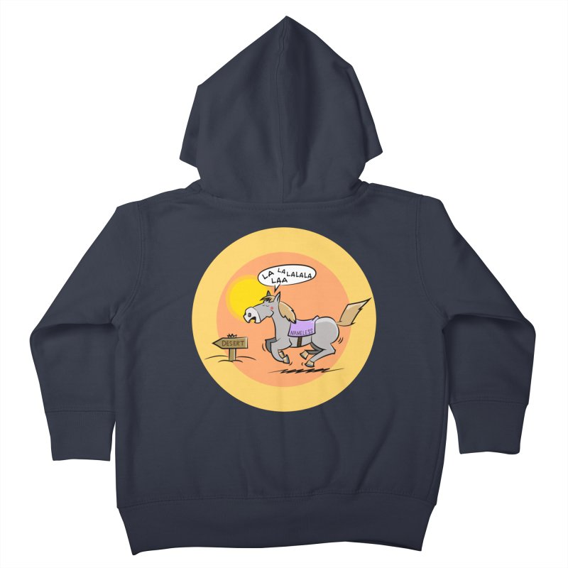 Horse with  no name is singing in the Desert Kids Toddler Zip-Up Hoody by Illustrated Madness