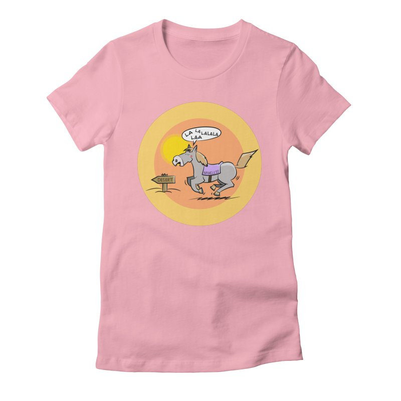 Horse with  no name is singing in the Desert Women's T-Shirt by Illustrated Madness