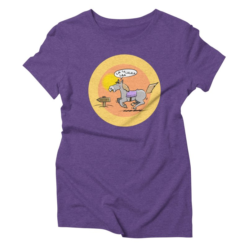 Horse with  no name is singing in the Desert Women's Triblend T-Shirt by Illustrated Madness