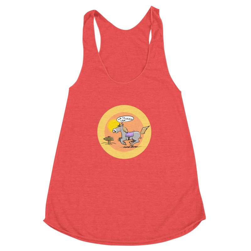Horse with  no name is singing in the Desert Women's Tank by Illustrated Madness