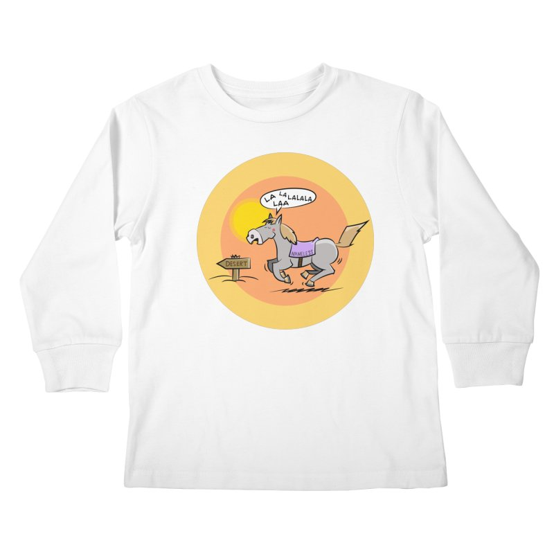 Horse with  no name is singing in the Desert Kids Longsleeve T-Shirt by Illustrated Madness