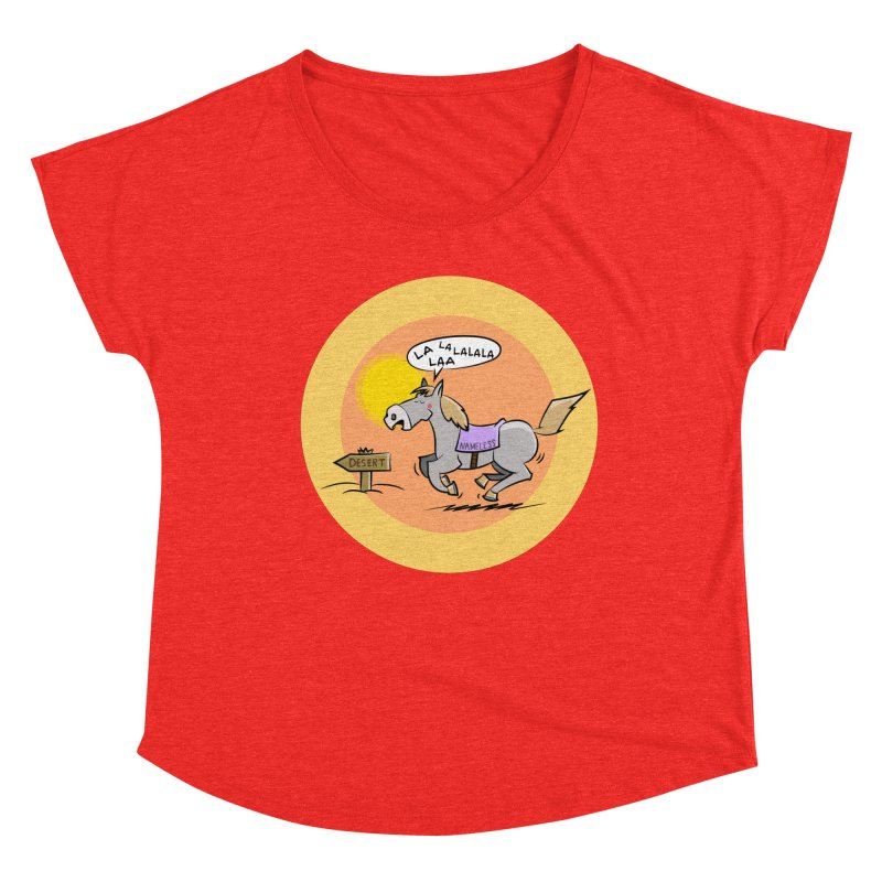 Horse with  no name is singing in the Desert Women's Scoop Neck by Illustrated Madness