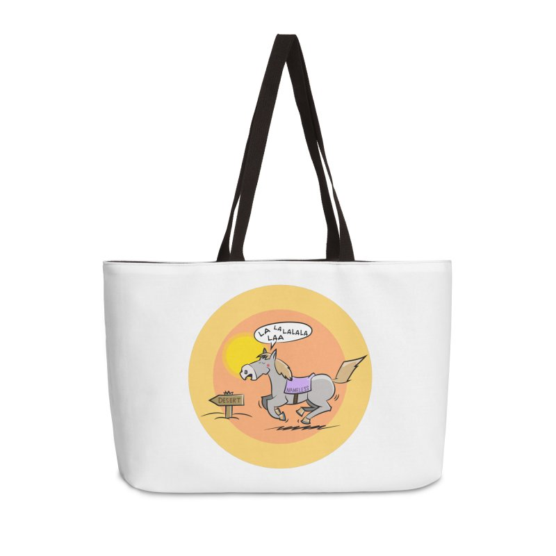 Horse with  no name is singing in the Desert Accessories Weekender Bag Bag by Illustrated Madness