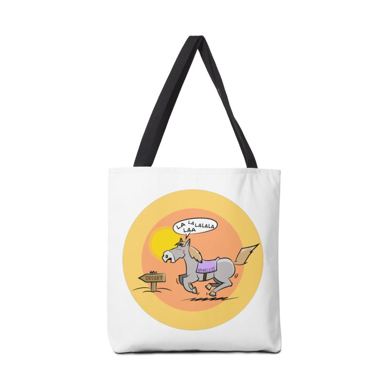 Horse with  no name is singing in the Desert Accessories Tote Bag Bag by Illustrated Madness