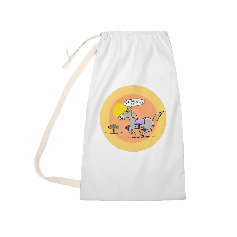 Horse with  no name is singing in the Desert Accessories Laundry Bag Bag by Illustrated Madness