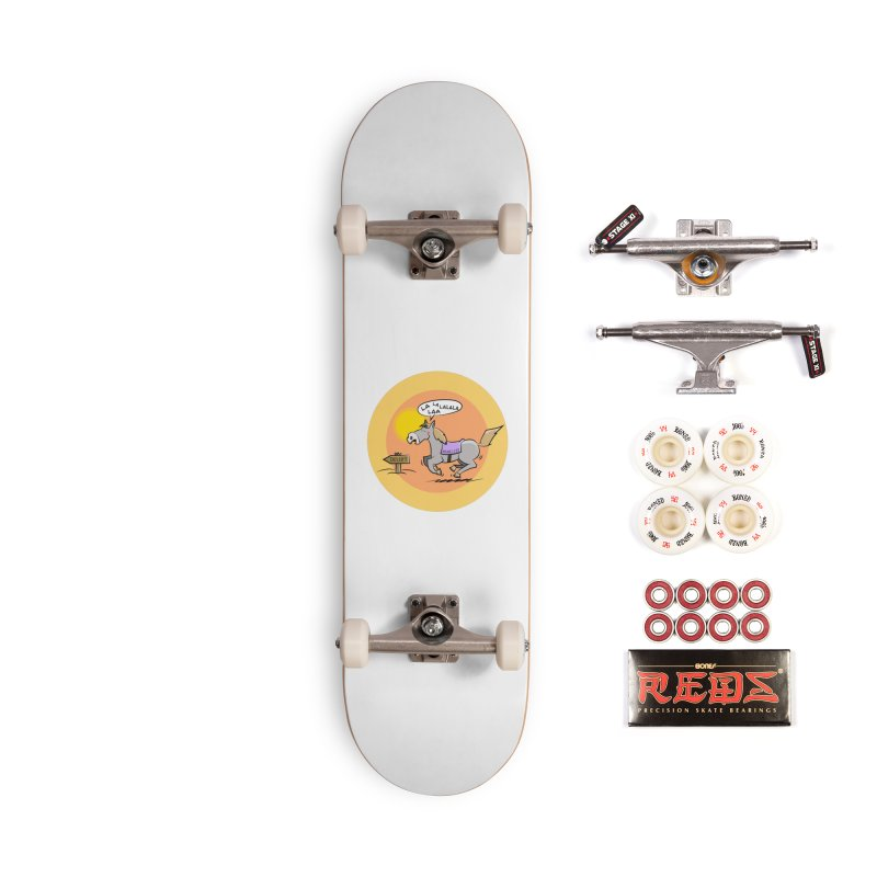 Horse with  no name is singing in the Desert Accessories Complete - Pro Skateboard by Illustrated Madness