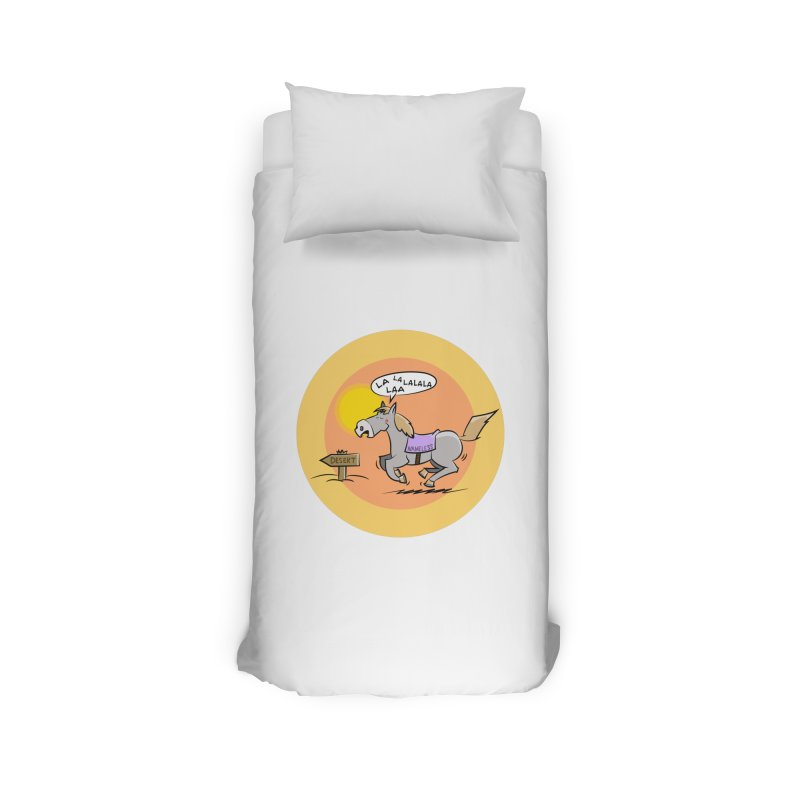 Horse with  no name is singing in the Desert Home Duvet by Illustrated Madness
