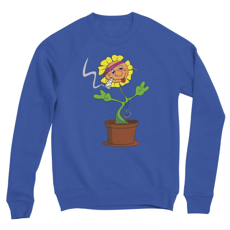 Weed Power to the Hippie Flower Men's Sweatshirt by Illustrated Madness