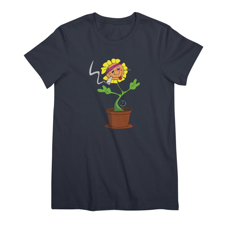 Weed Power to the Hippie Flower Women's Premium T-Shirt by Illustrated Madness