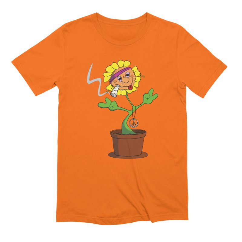 Weed Power to the Hippie Flower Men's Extra Soft T-Shirt by Illustrated Madness