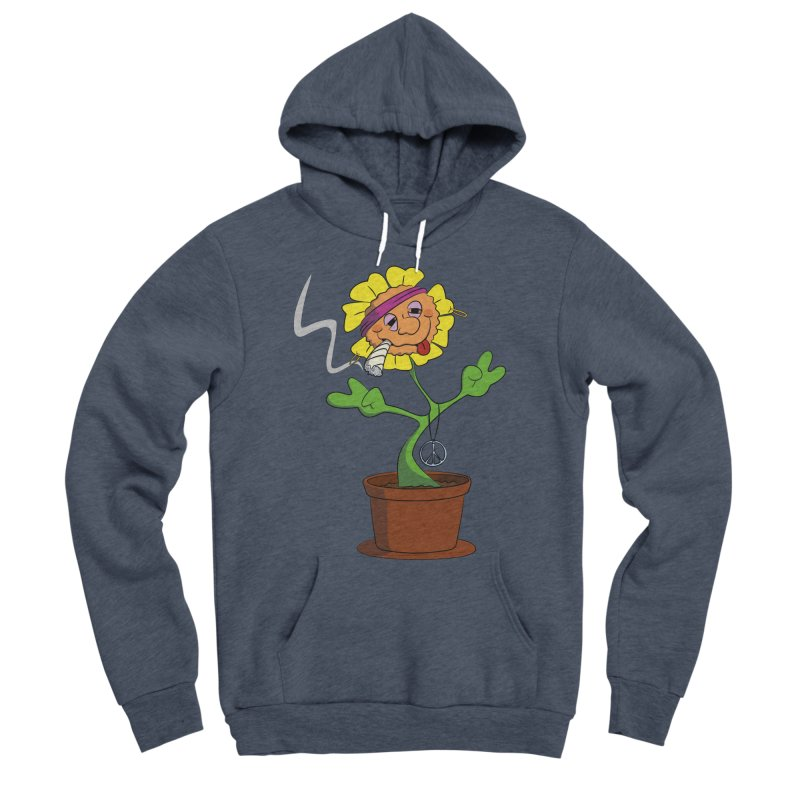 Weed Power to the Hippie Flower Women's Sponge Fleece Pullover Hoody by Illustrated Madness