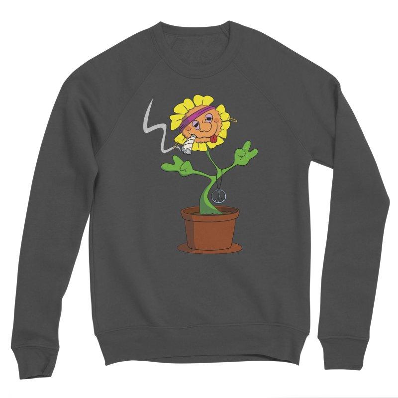 Weed Power to the Hippie Flower Men's Sponge Fleece Sweatshirt by Illustrated Madness