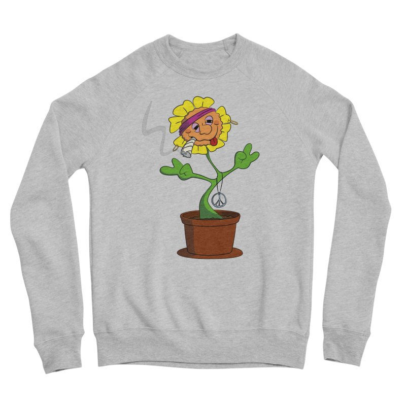 Weed Power to the Hippie Flower Men's Sponge Fleece Sweatshirt by Illustrated Madness