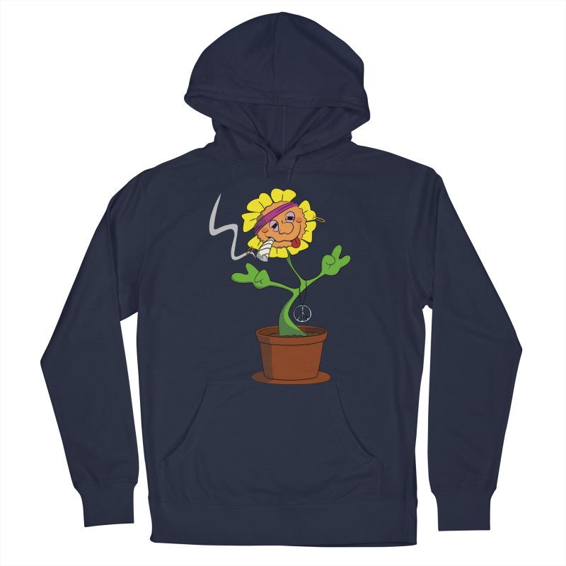 Weed Power to the Hippie Flower Men's Pullover Hoody by Illustrated Madness