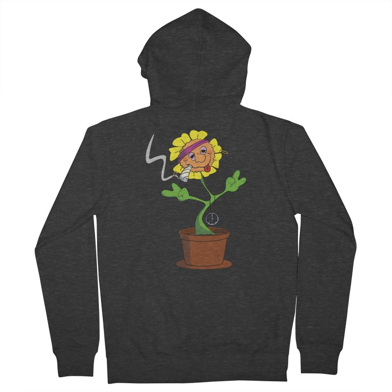 Weed Power to the Hippie Flower Women's Zip-Up Hoody by Illustrated Madness