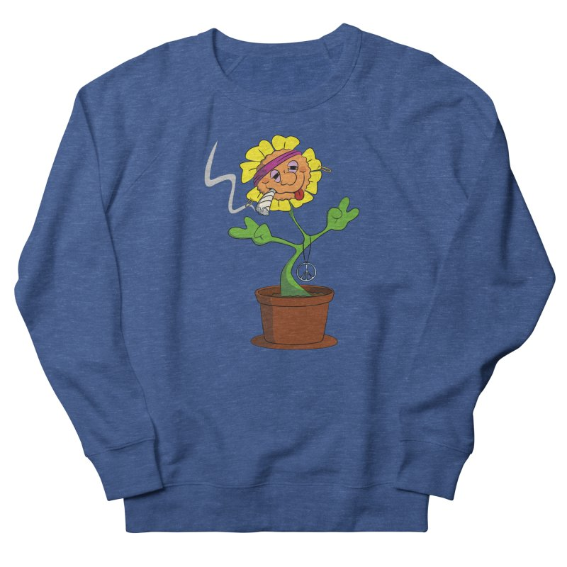 Weed Power to the Hippie Flower Women's Sweatshirt by Illustrated Madness