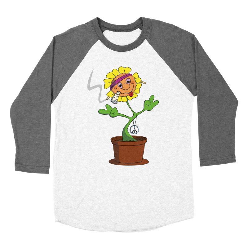 Weed Power to the Hippie Flower Women's Longsleeve T-Shirt by Illustrated Madness