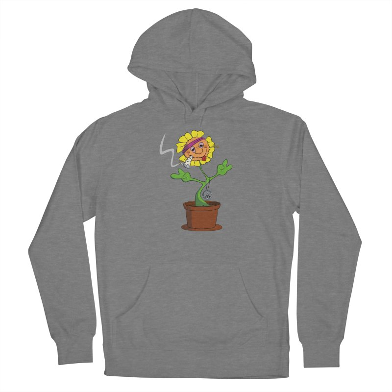 Weed Power to the Hippie Flower Women's Pullover Hoody by Illustrated Madness