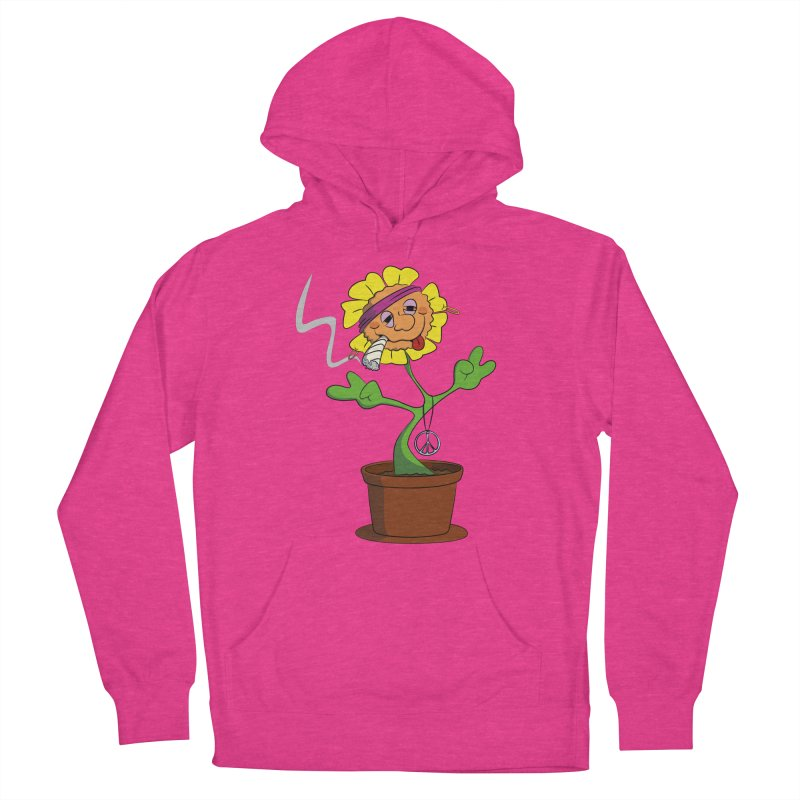 Weed Power to the Hippie Flower Women's French Terry Pullover Hoody by Illustrated Madness