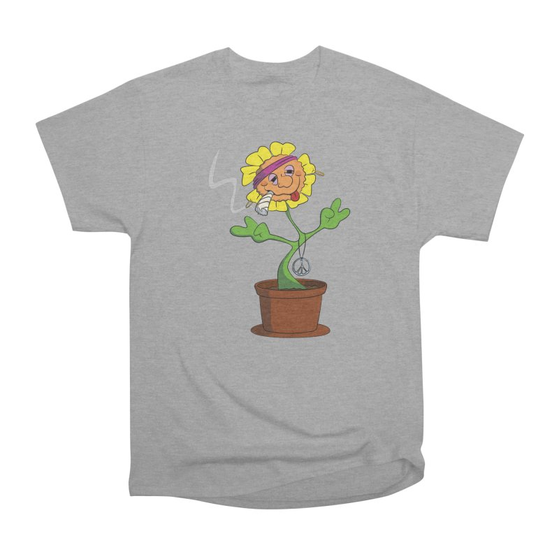 Weed Power to the Hippie Flower Women's Heavyweight Unisex T-Shirt by Illustrated Madness