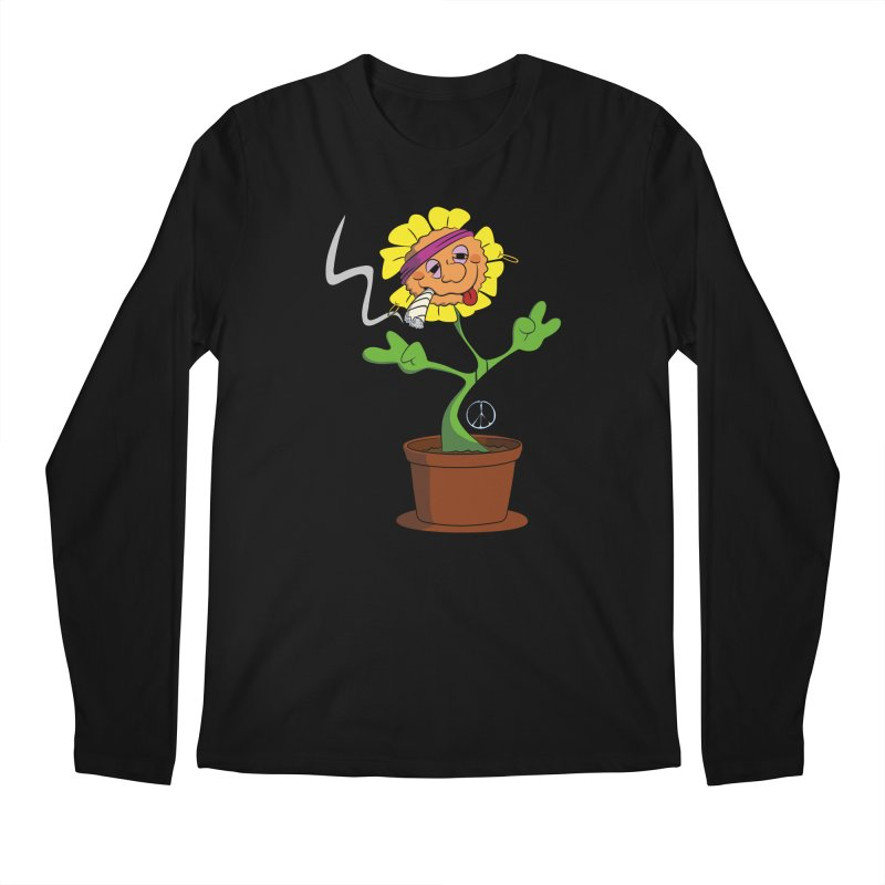 Weed Power to the Hippie Flower Men's Longsleeve T-Shirt by Illustrated Madness